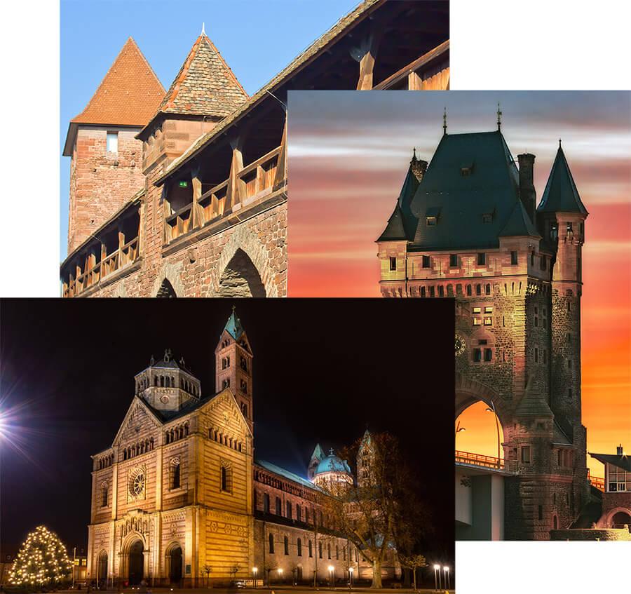 """Collage aus Schmuckbildern für die Seite """"Gruppenangebote"""""""