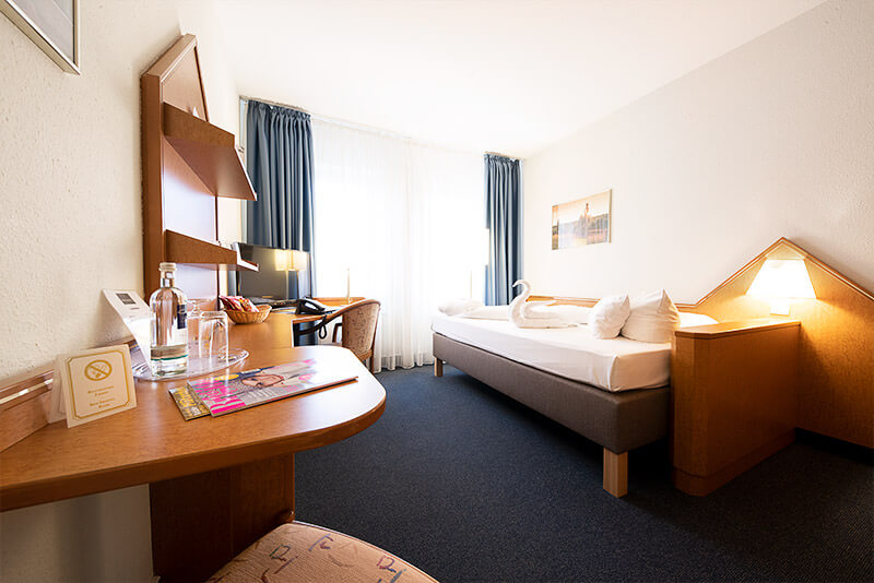 Schlafbereich der Einzelzimmer Komfort und Superior