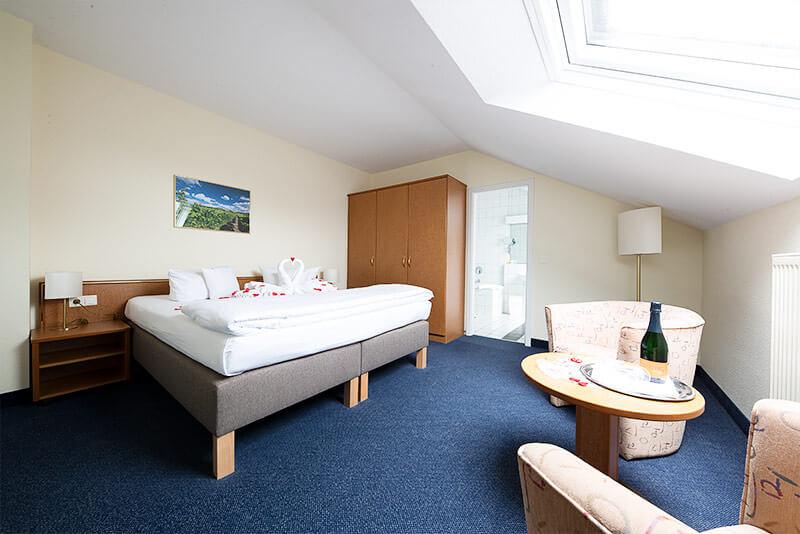Der Schlafbereich der Suite
